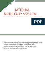 Lesson 2 International Monetary System
