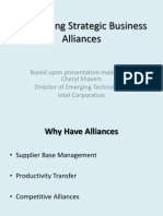 Developing Strategic Business Alliances