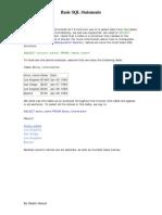 Basic SQL Statements