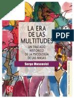 Moscovici, S., La Era de Las Multitudes (V-VIII) (XX-XII)