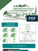 Web-LiDAR forest inventory
