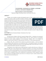 20. Humanites - IJHSS- Nominalizations in Scientific and Political Genres -Bahram Kazwemian - Iran