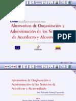 Alternativas de Organización y Administración de los Servicios de Acueducto y Alcantarillado