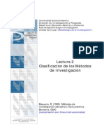 métodos de investigación (clasificación)