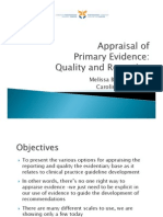 Appraisal of Primary Evidence