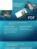 hydro power and nuclear power