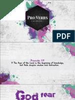 ProVerbs 02 - God Fear is Good Fear