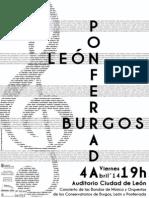 CONCIERTO BANDAS Y ORQUESTAS DE LOS CONSERVATORIOS DE MÚSICA DE BURGOS, LEÓN Y PONFERRADA - VIERNES 4 ABRIL´14