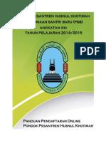 Panduan Pendaftaran Psb Online