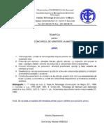 2010 Tematica Admitere Master IPFP