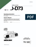 Sony Cfdd73