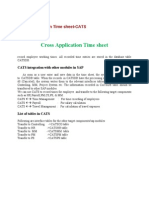 Cross Application Time Sheet