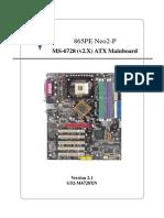 865pe Neo2 p Motherboard Manual