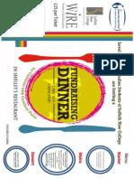 Shellys Fundraising Dinner Poster