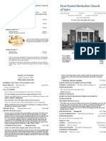 Spiro First United Methodist Church Worship Bulletin for October 25, 2009