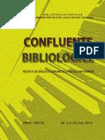 Confluenţe bibliologice Nr. 3-4(33-34), 2013