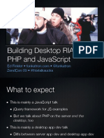 Building Desktop RIAs with PHP and JavaScript