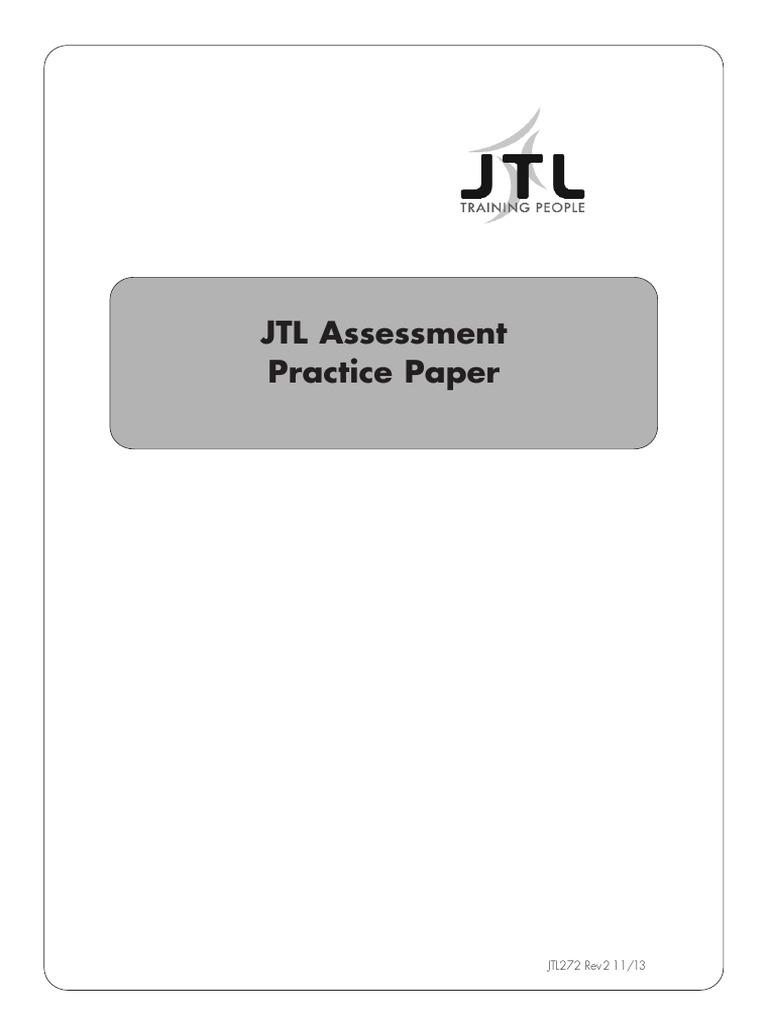 JTL Assessment Practice Paper
