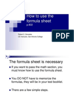 how to use the formula sheet