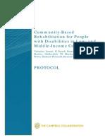 Community Based Rehabilitation Protocol