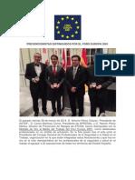 Prevencionistas Distinguidos Por El Foro Europa 2001