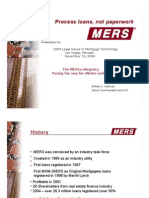 MERS Legal Issues in Mortgage Technology