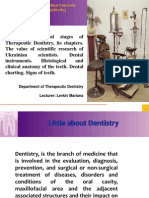 1 Therapeutic Dentistry. Histology of Teeth. Dental Charting