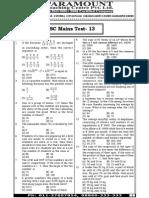 Ssc Mains (Maths) Mock Test-13