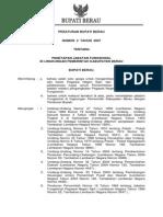 2012-10!17!17-22 Perbu 2 2007 Ttg Penetapan Jabatan Fungsional Lingkungan Pemerintah Kabupaten Berau