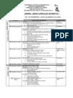 Cronograma Mat I. III-2009