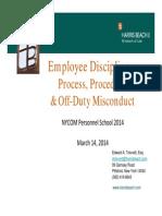 March 2014 NYCOM Presentation on Employee Discipline