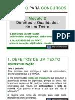 Curso de Redação Para Concursos - Módulo II - Aula 01 - Defeitos e Qualidades de um Texto