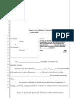 Sample Motion for Protective Order Regarding Interrogatories for California