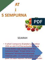 Pemilihan Bahan Makanan (4 Sehat 5 Sempurna)
