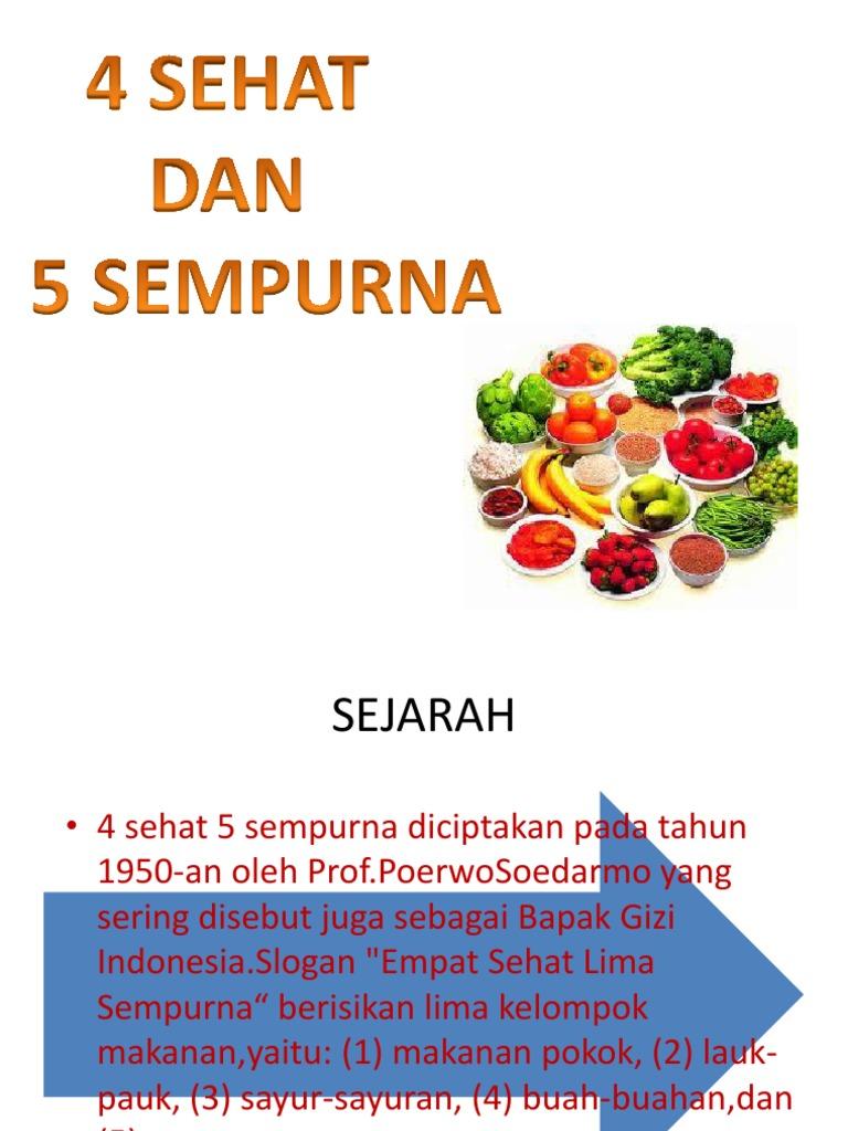 Pemilihan Bahan Makanan 4 Sehat 5 Sempurna