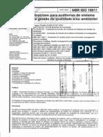 NBR ISO 19011_2002! - Diretrizes Para Auditorias de Sistema