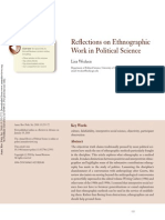 Etnografic Work in Political Science