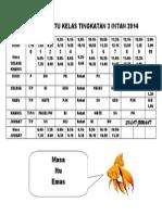 Jadual Waktu Kelas 3 INTAN 2014