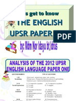 English Upsr Paper One