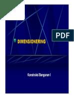 Kuliah Ke-10 Dimensionering [Compatibility Mode]