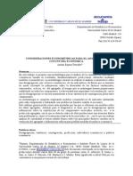 2002 Espasa Consideraciones Econometricas Para El Analisis de Coyuntura Economica