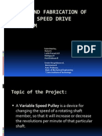 Design and Fabrication of Variable Speed Drive Mechanism ppt.