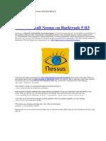 Cài đặt phần mềm Nessus trên backtrack