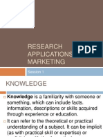 Research Applications for Marketing(1)
