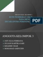 Rute Pemberian Obat Peritoneal