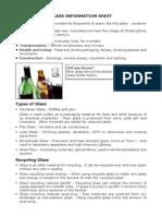 Glass Fact Sheet