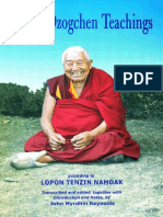Lopon Tenzin Namdak Bonpo Dzogchen Teachings
