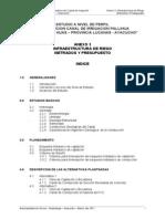 Infraestructura de Riego Metrados y Presupuesto