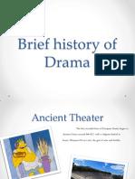 brief history of drama