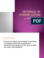 Historical of Literary Criticism